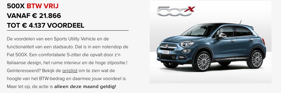 Fiat 500X btw vrij