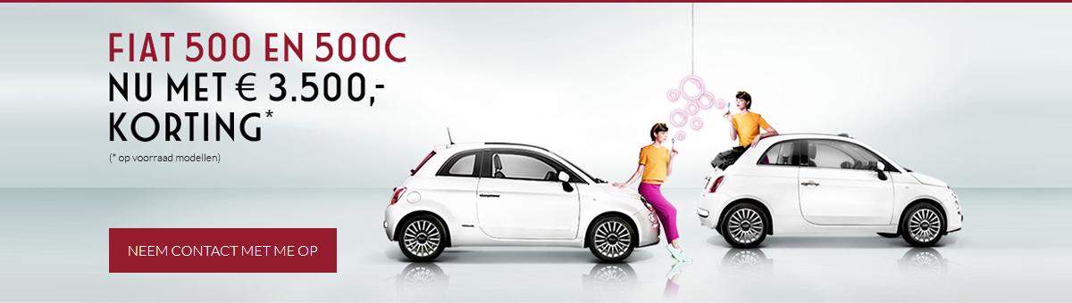 Fiat 500 en 500C - Nu met 3500 euro korting