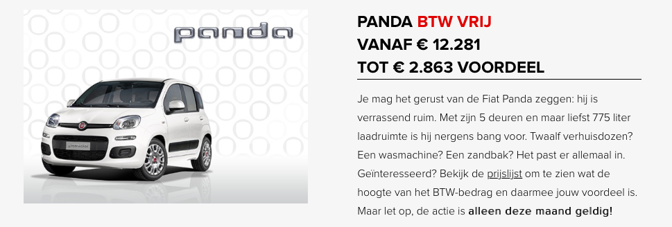 Panda btw vrij