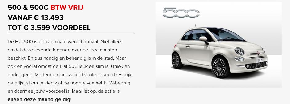 Fiat500 btw vrij
